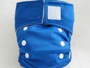 Kawaii Pure & Natural Newborn Cloth Diaper with 2 Microfiber Inserts in Dark Blue