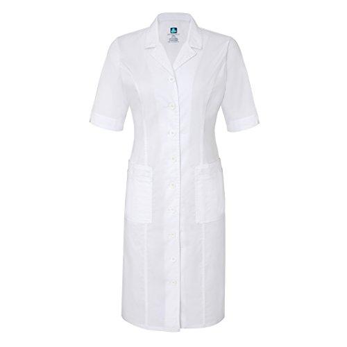 Adar Pop-Stretch Junior Fit Short Sleeve Back-Smocked Dress - 3236 - White - L
