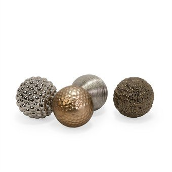 IMAX 1589-4 Metallic Finished Orbs, Set of 4