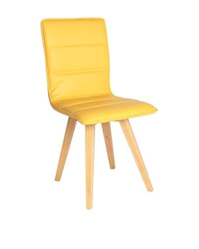 TOP AMBIENTES stoel Set van 2 gele