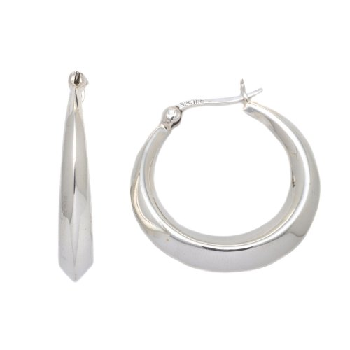 Silver Ea849 Creole Earrings