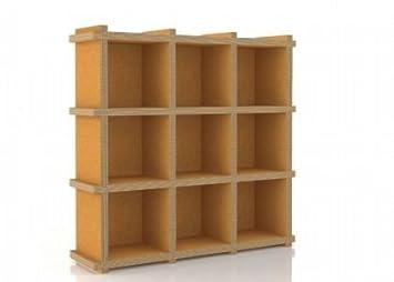 FLUA 33 libreria ecodesign modulare in cartone