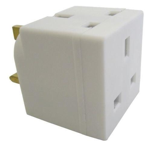 Slamtech® 2 Way Multi Mains Socket Adaptor Double Plug CE Approved 13Amps UK 3 Pin Plug