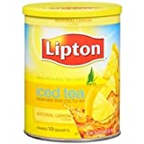 Lipton Iced Tea Natural Lemon Makes 10 Quarts. 751g