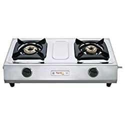 Pigeon Stainless Steel Cute LPG Stove, 2 Burner