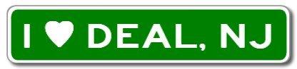 I Love DEAL, NEW JERSEY City Limit Sign - Aluminum