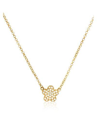 Córdoba Joyeros Conjunto de cadena y colgante Flor Zirconium Oro