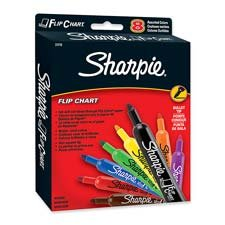 Flip Chart Marker, Bullet Point, Assorted, 8-Pack front-1048875