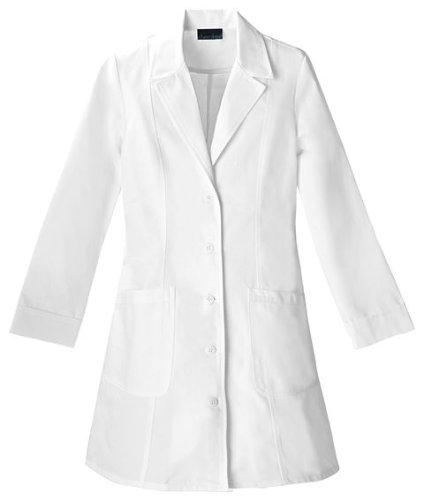 Cherokee 2410 Women's Fashion Whites 36-inch Notched Collar Lab Coat White