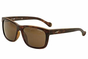 Arnette Mens Slacker AN4196-04 Rectangular Sunglasses,Havana,59 mm by Arnette