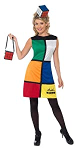 Smiffy's Rubiks Cube Dress with Accessories (Large)