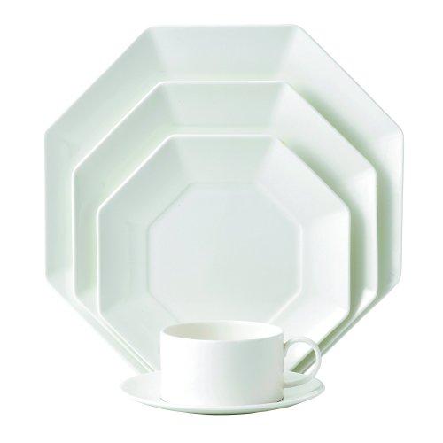Wedgwood Ashlar 5-Piece Octagonal Place Setting, White