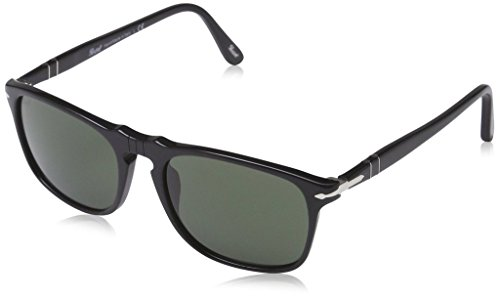 Persol PO3059S 95/31 54mm Black/Green Sunglasses Bundle-2 Items