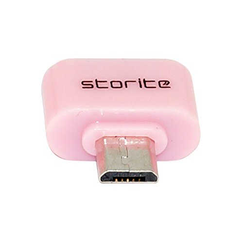 Storite [PINK] Cute Little Square OTG Adapter for Smartphones & Tablets