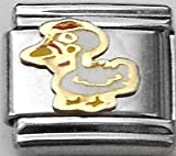 Clearly Charming Rooster Animal Theme Birds Italian Charm Link Bracelet