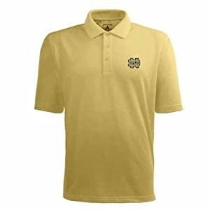 Notre Dame Pique Xtra Lite Polo Shirt (Alternate Color) by Antigua