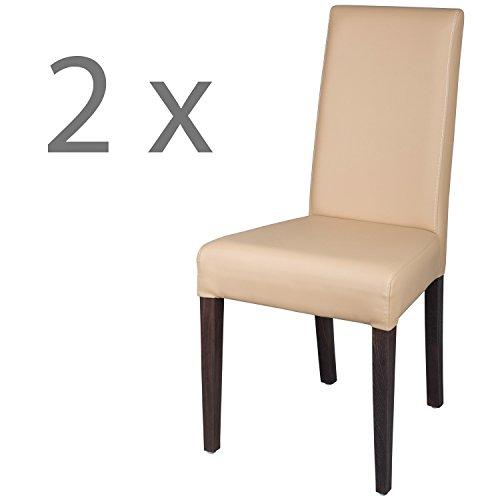 2x-Esszimmerstuhl-Buche-Massivholz-AMALIA-gebeizt-Wenge-mit-hochwertigem-Polster-matt-Hellbraun