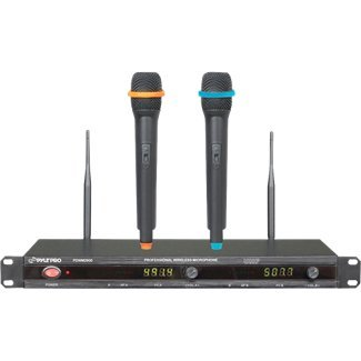 Pyle-Pro Pdwm2800 Professional Uhf Wireless Microphone System With 2 Microphones