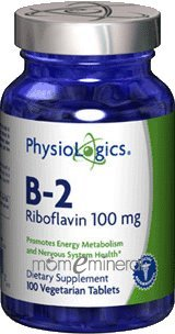 B-2 Riboflavin 100 mg 100 Tablets by PhysioLogics