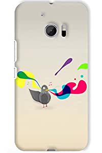 IndiaRangDe Case For HTC One M10 Printed Back Cover