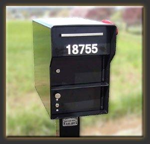 Fort Knox Mailbox Senator B Senator - Black