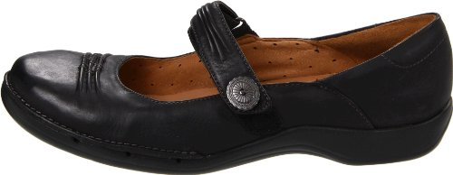 Clarks Women's Un.Cedar Flat,Black,8 Big SALE