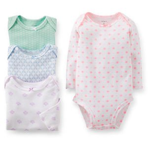 Carter's 4 Pack Bodysuits (Baby) - Assorted-6 Months