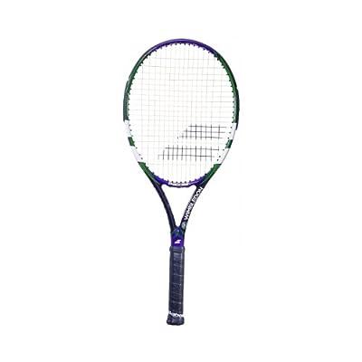 Babolat 102214-196 Reakt Tour Wimbledon Strung Tennis Racquet, 4 3/8 (Black/Purple)