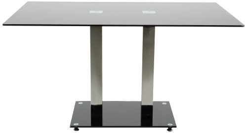 AC-Design-Furniture-H000012517-Esstisch-Hendrik-Glasplatte-schwarz-Gestell-Metall-rostfrei-Fu-Schwarzglas-ca-140-x-76-x-80-cm