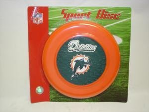NEW Miami Dolphins Sport Disc NFL Frisbee Dog Toy