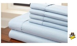 Hotel New York Solid Colors Design 90 GSM Microfiber Full Sheet Set, Color Light Blue, 6 Piece Sheet Set (Hotel In New York compare prices)