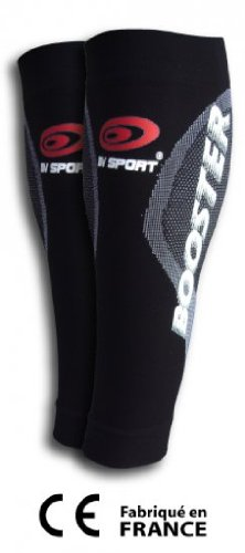 BV Sport Booster Black Compression Calf Sleeve