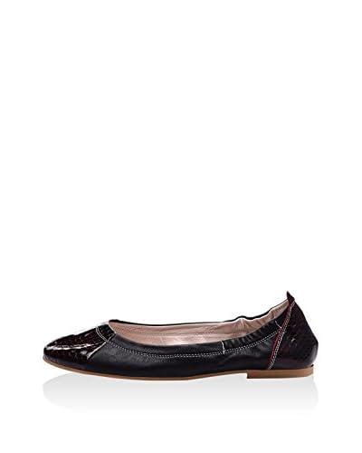 Lizza Shoes Bailarinas Lz-6606 Negro / Marrón Oscuro