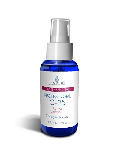 Professional Use Vitamin C 25% Serum with 15% Hydrolyzed Collagen & Sodium Hyaluronate, Retinoic Acid, for Maximum Anti Aging Skin Treatment. Concentrated Solution to Repair, Protect, & Prevent Premature Skin Aging. Stimulates Collagen Production- Antioxi