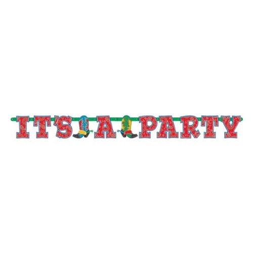 "Western ""It's a Party"" Letter Banner 6ft"
