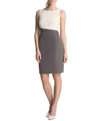 ESPRIT Collection Damen Etui Kleid mit Spitze, Knielang ...