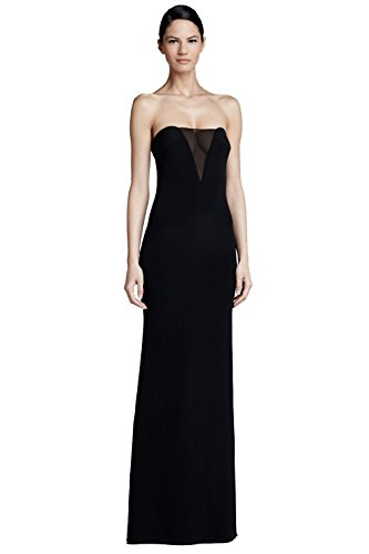 Emilio Pucci Strapless Sheer Inset A-line Evening Gown Dress