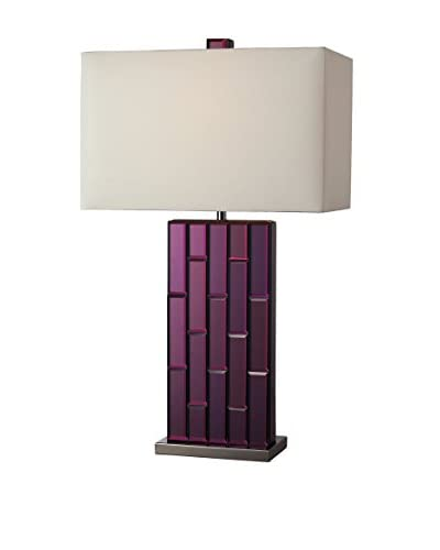 Artistic Lighting Avalon Table Lamp, Purple/Black/Nickel