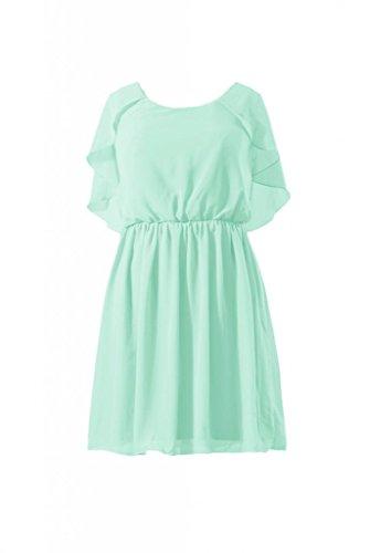 Daisyformals Short Scoop Neckline Chiffon Bridesmaid Dress(Bm1552)- Mint
