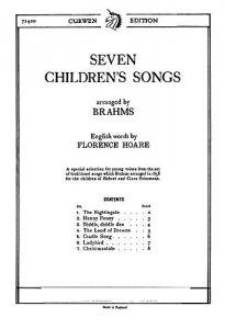 Johannes Brahms Seven Childrens Songs Unison by Music Sales