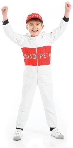 [Racing Driver Childs Costume (Medium 5-6 Years) by Fun Shack] (Childs Racing Driver Costume)