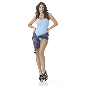 Halter One-Piece Swimsuit with Bow Trim