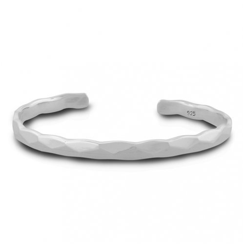 Bling Jewelry Sterling Silver Bracelet Hammered Cuff Bangle
