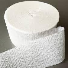 White Crepe Paper Streamers 2 Rolls 140 Foot Total (Crepe Paper White compare prices)