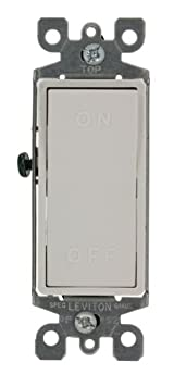 15 Amp, 120/277 Volt, AC, Single-Pole, Decora Rocker Switch, Residential Grade, On/Off Molded in Rocker, White, 5601-X2W