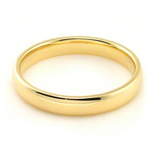 Women's 18k Yellow Gold 3mm Comfort Fit Wedding Band Ring Size 6.75