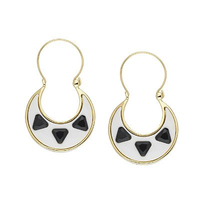 House of Harlow White Resin Earrings