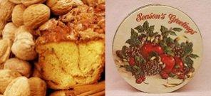 "Original Cinnamon Walnut 8"" Coffee Cake (Season'S Greetings Gift Tin)"