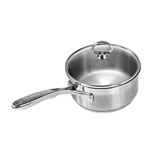 Chantal SLIN35-160 Induction 21 Steel Sauce Pan with Glass Tempered Lid (1.5-Quart) (Chantal Induction 21 compare prices)