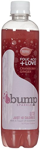 Bump Water Cranberry Ginger Sparkle - 16 Oz